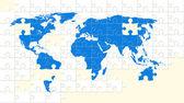 puzzle mapa světa s chybějící kusy