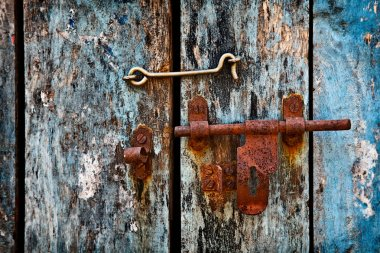 Latch on the door