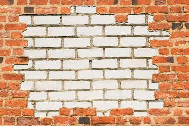 Brick wall surrounded with another wall