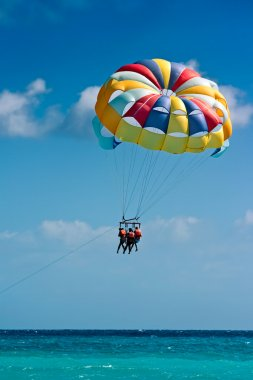 Parasailing in beach