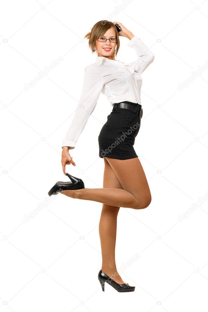 Jupe Jeune Ludique Femme Noire Dans Sexy Une 4qSc3jAR5L