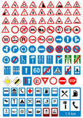 Fotografie Road sign icons. Traffic signs. Vector illustration