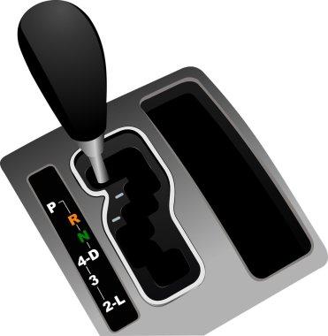 Automat gearshift . Vector illustration
