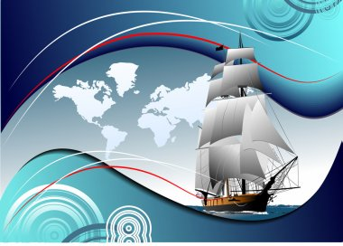 Cover for brochure with old sailing vessel