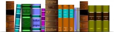 Vector illustration bookshelf library