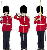 vektorový obrázek ze tří beefeater. Anglie stráže.