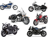 Photo Six vector illustrations of motorcycle
