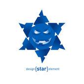 boldog arccal papír Origami-Hópehely