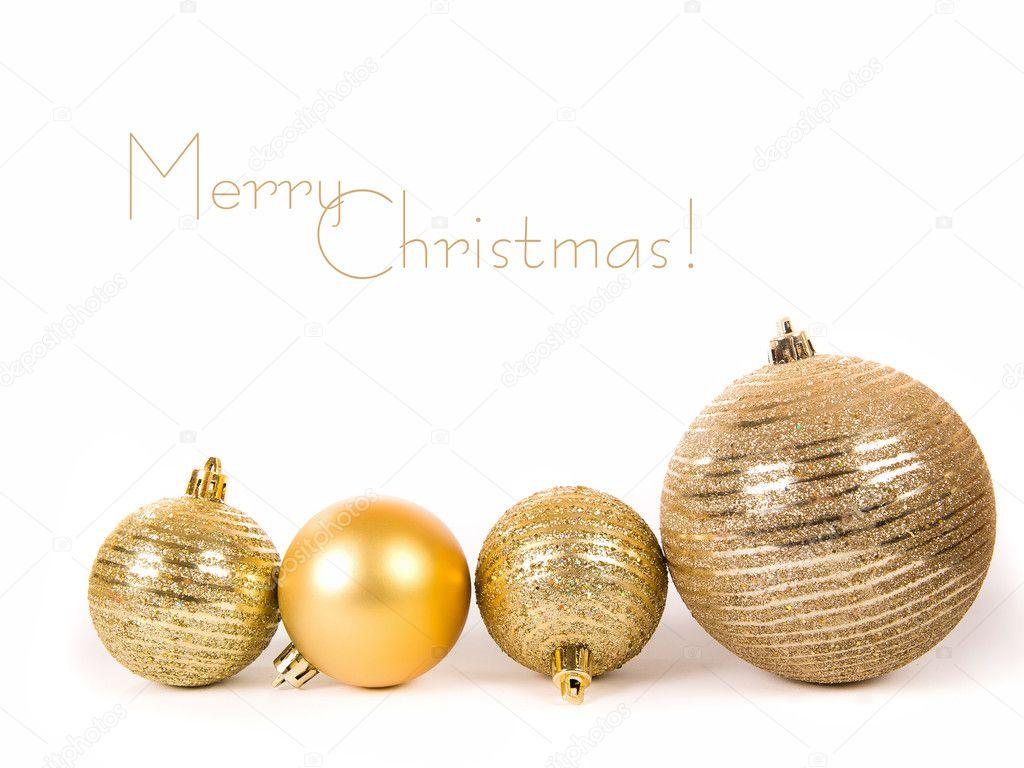 Esferas de navidad doradas fotos de stock tan4ikk 7403752 - Bolas de navidad doradas ...