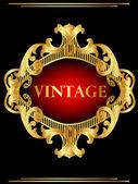 Vintage Hintergrundrahmen mit Gold(en) Muster