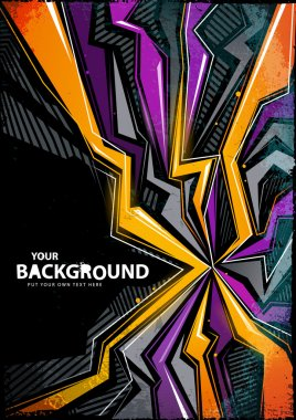 Cool abstract graffiti background