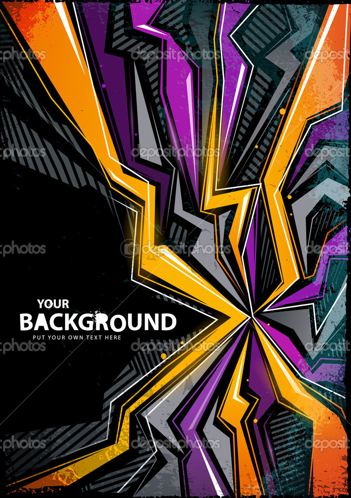 Cool Abstract Graffiti Background Stock Vector C Vecster