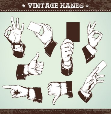 Set of vintage hands