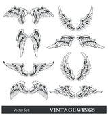 Photo Vector set of wings