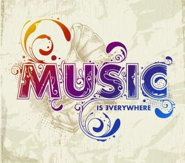 Hand drawn music lettering