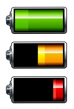 Vector batteries icons