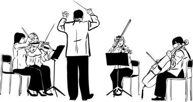 Sketch of a string quartet with derezherom
