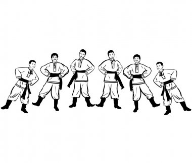 Guys dance dance in his boots and trousers, shirts