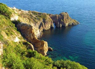 Diana grotto in the Black sea, Crimea, Ukraine