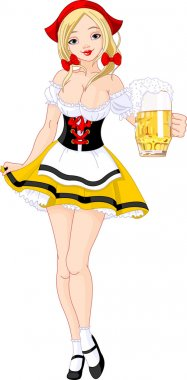Oktoberfest German girl
