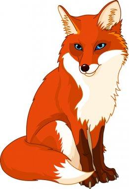Illustration of very cute fox stock vector