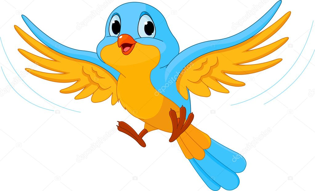 Flying Bird Stock Vector C Dazdraperma 7592551