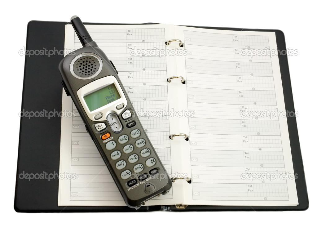 Phone off Address book, open view.