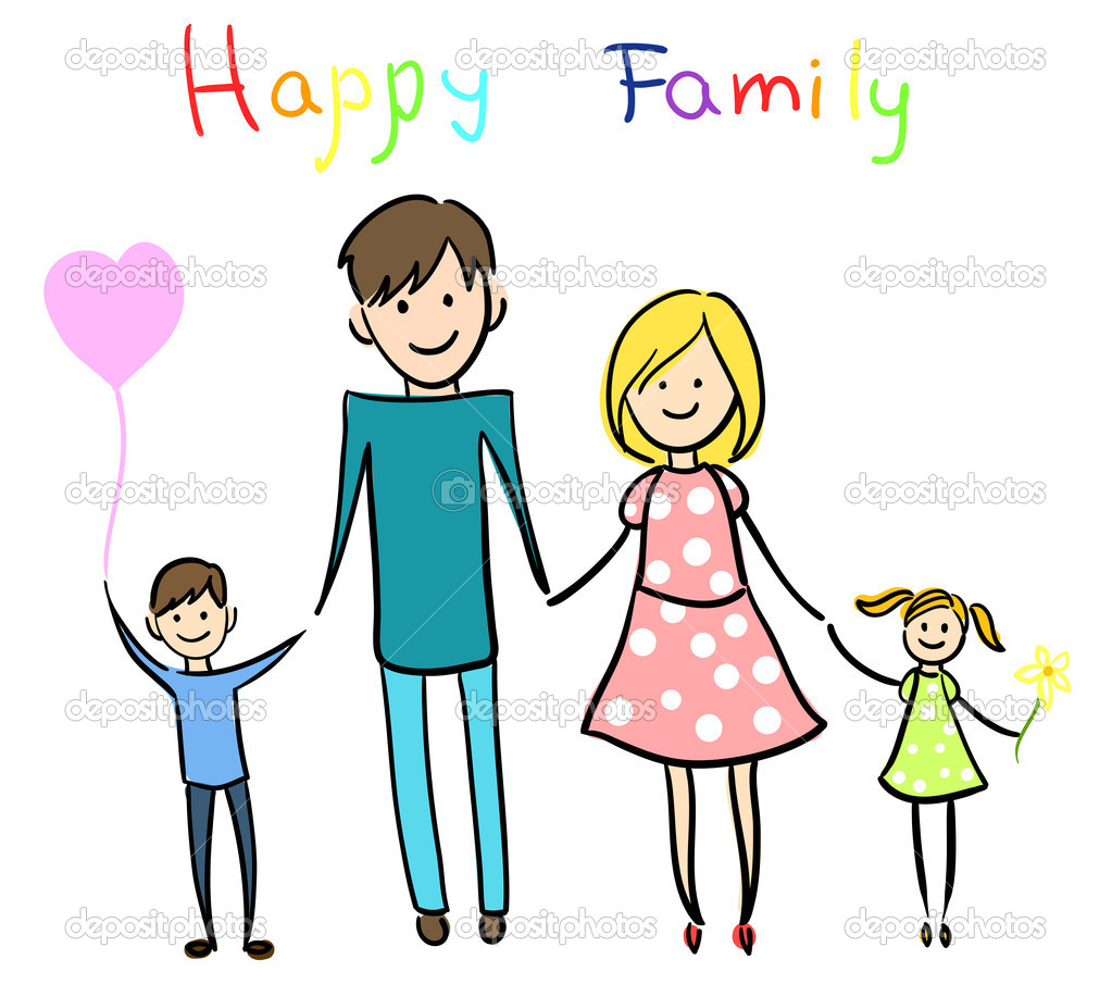 Áˆ Drawing Of Families Stock Drawings Royalty Free Family Smiling Happy Vectors Download On Depositphotos