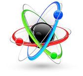 Photo Atom color symbol
