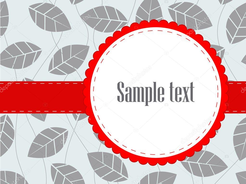 Red Band Leaf Foliage Bridal Shower Invitation — Stock Photo ...