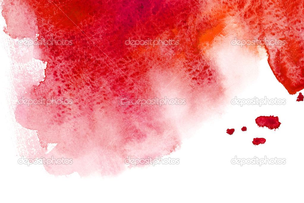 Watercolor red abstract splash