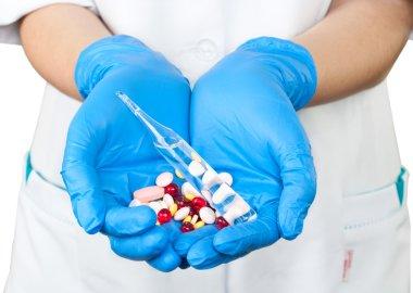 Medicines in the hands