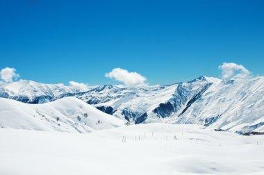 """Картина, постер, плакат, фотообои """"высокие горы под снегом зимой"""", артикул 6892995"""