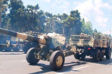 BAKU - 26 June 2011 - Miliatary Parade in Baku, Azerbaijan on Army Day stock vector