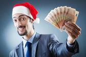 Santa s eurobankovkami