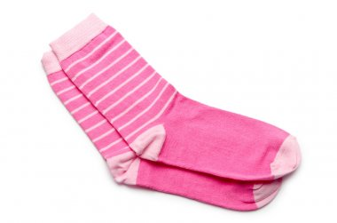 Pair of socks isolated on white