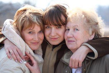 Grandmother, daughter and grand daughter