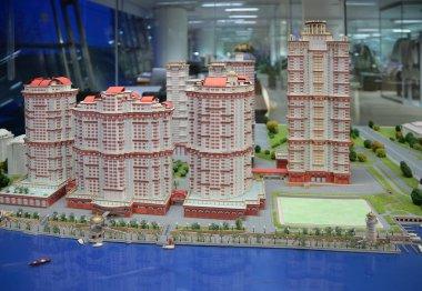 Model of housing complex Scarlet Sails