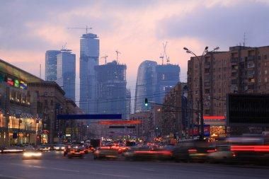 City street in evening