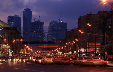 City street in dusk