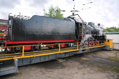Steam locomotive in museum