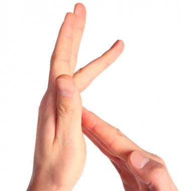 Hand sign language alphabet