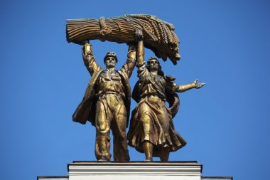 Monument. VDNH. Russia.