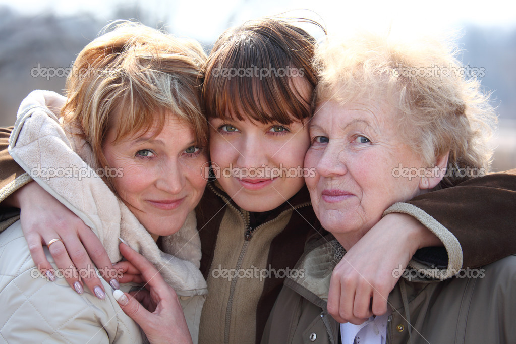Grandmother, daughter and grand daughter