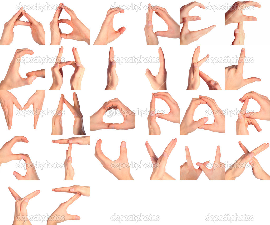 Hand Sign Language Alphabet  Stock Photo  PahaL