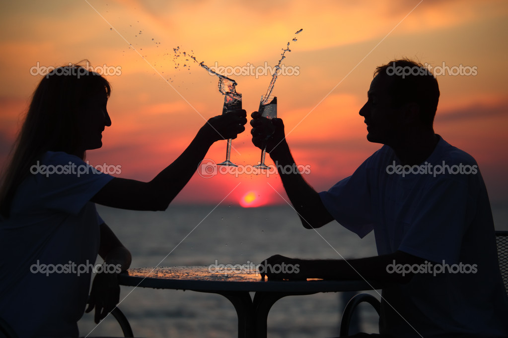 Silhouettes on sunset
