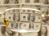 a Vértes keresztül a szemüvegek dollárban
