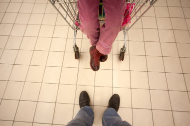In shopping centre