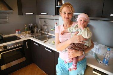 Oman in kitchen