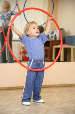 Baby play with hoop